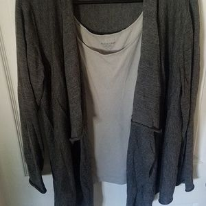 Eileen fisher cardigan gray and a light gray tank